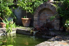 Fountain and pond